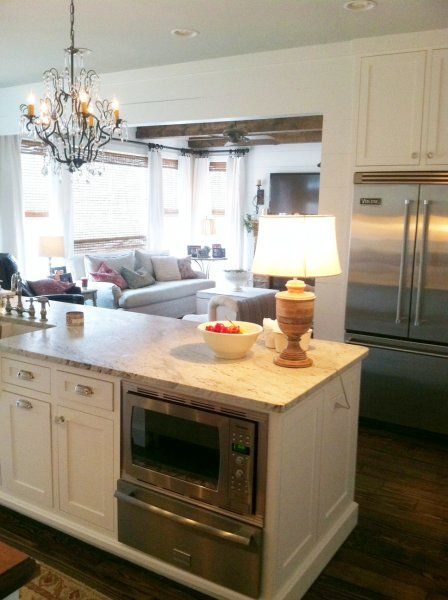 Island With Microwave And Warming Drawer Remodel Ideas