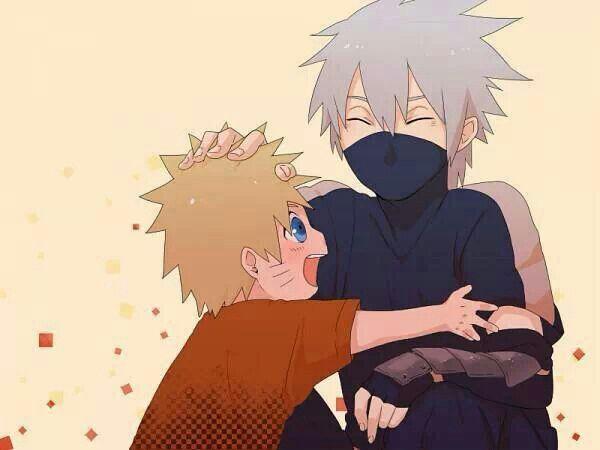 Aww...little Naruto and young Kakashi! Naruto