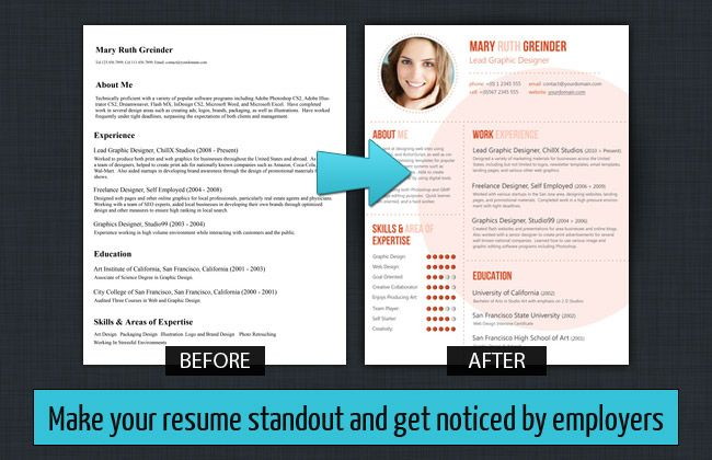 make your resume standout Resume Baker Custom Resume Design ...