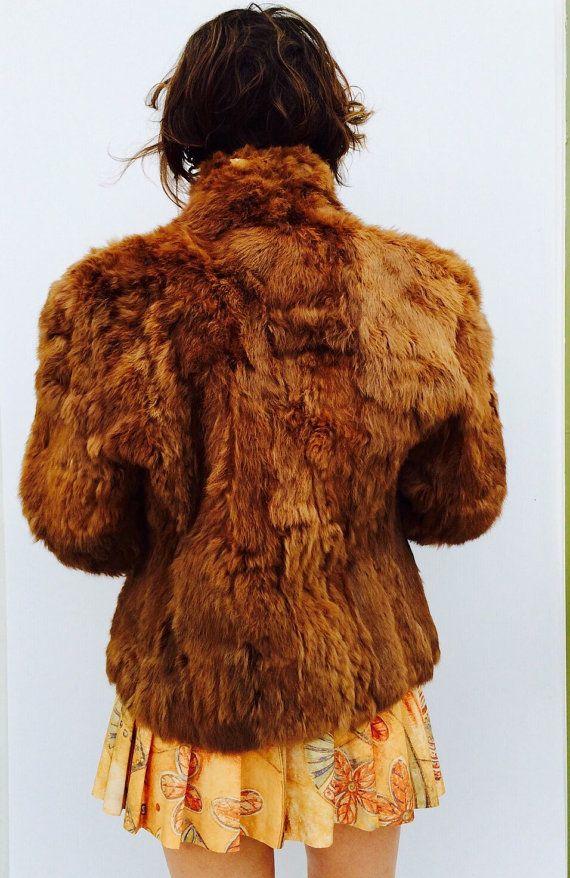 lil Kim Brown Rabbit Fur Coat