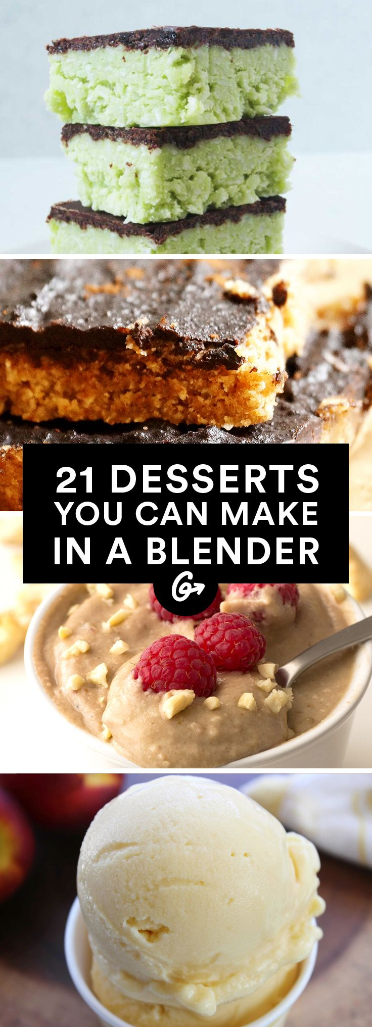 27 Healthy Desserts You Can Make in a Blender  #blender #desserts http://greatist.com/eat/healthy-blender-dessert-recipes
