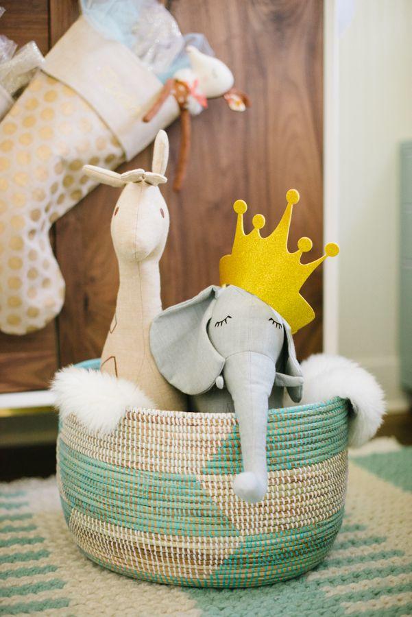 cute basket for a nursery