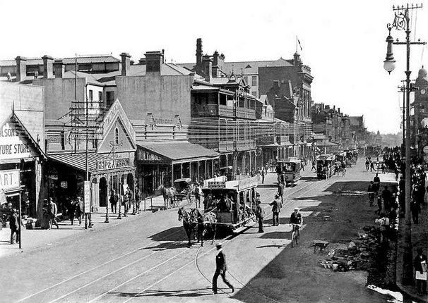 Commissioner Street in the 1890s