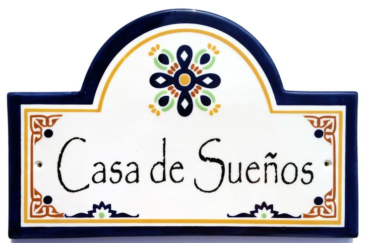 Talavera Blue Address House Plaque - Ceramic House Number Plaques - by Classy Plaques Studio