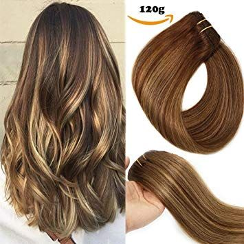 Clip In Human Hair Extensions Double Weft 9A Brazi…