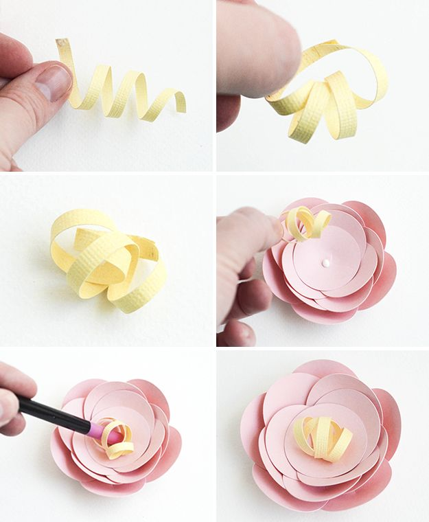 best flor papel paper flower diy images on pinterest crafts diy and fabric flowers