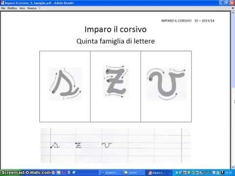 Lettere in corsivo: le minuscole - YouTube