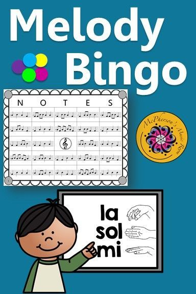 Looking for a music bingo game that utilizes rhythm and melody (sol/mi/la). Your classes will love this game that allows lots of winners! Use for whole group instruction, centers or with a substitute! Easy activity to add to lesson plan!