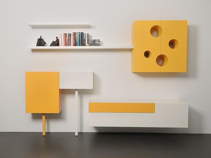 Collectie Kaast, hangende kast met 4 gaten - Castelijn Wonen