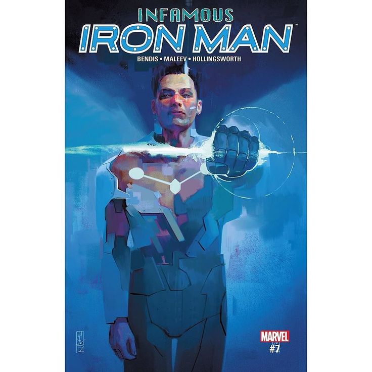 """Infamous Iron Man (2016-) #7 Written by Brian Michael Bendis Art by Alex Maleev Cover by Alex Maleev The Reed Richards from a dead reality calls himself """"The Maker""""  and his plans for the world are far more insane than anything Doctor Doom ever attempted. Now Doom as Iron Man is the only one who can stop him. Doom is the hero? Richards is the villain? It is a world gone mad!"""