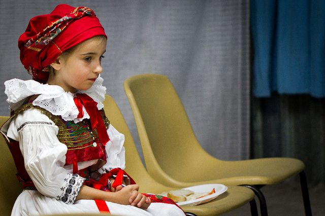Czech traditional costume. Love the banded headcovering!
