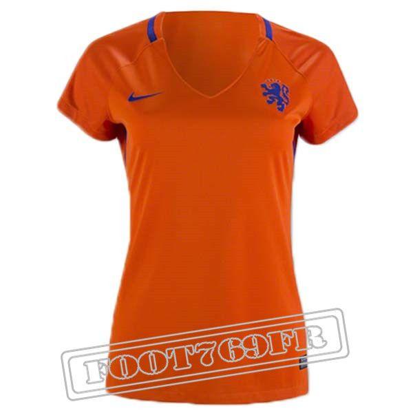 Promo Maillot Equipe Pays Bas Femme 2016/17 Domicile : Destockage