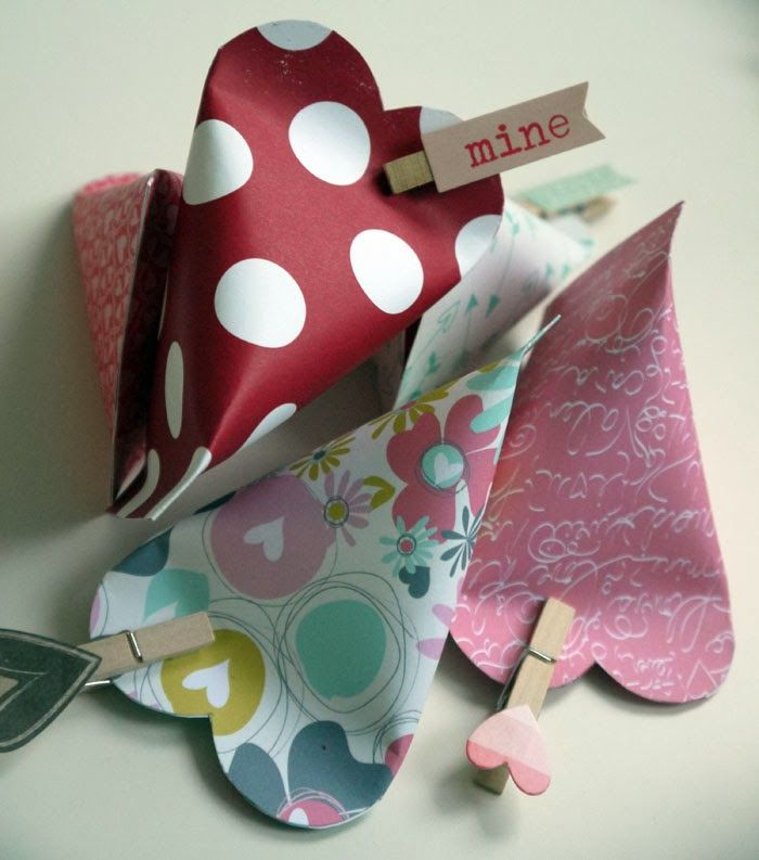 Valentine heart sour cream containers