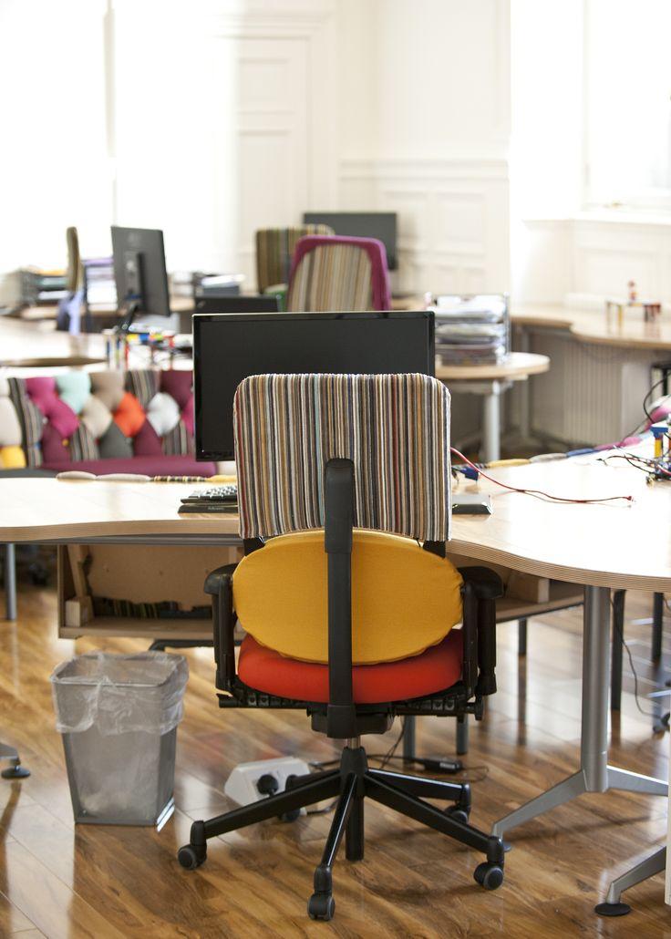 #desk #chair #deskchair #DeliciousAlchemy #office #officedesign #decor #interiordesign #furniture #chair #multicoloured #patchwork #woodenfloor