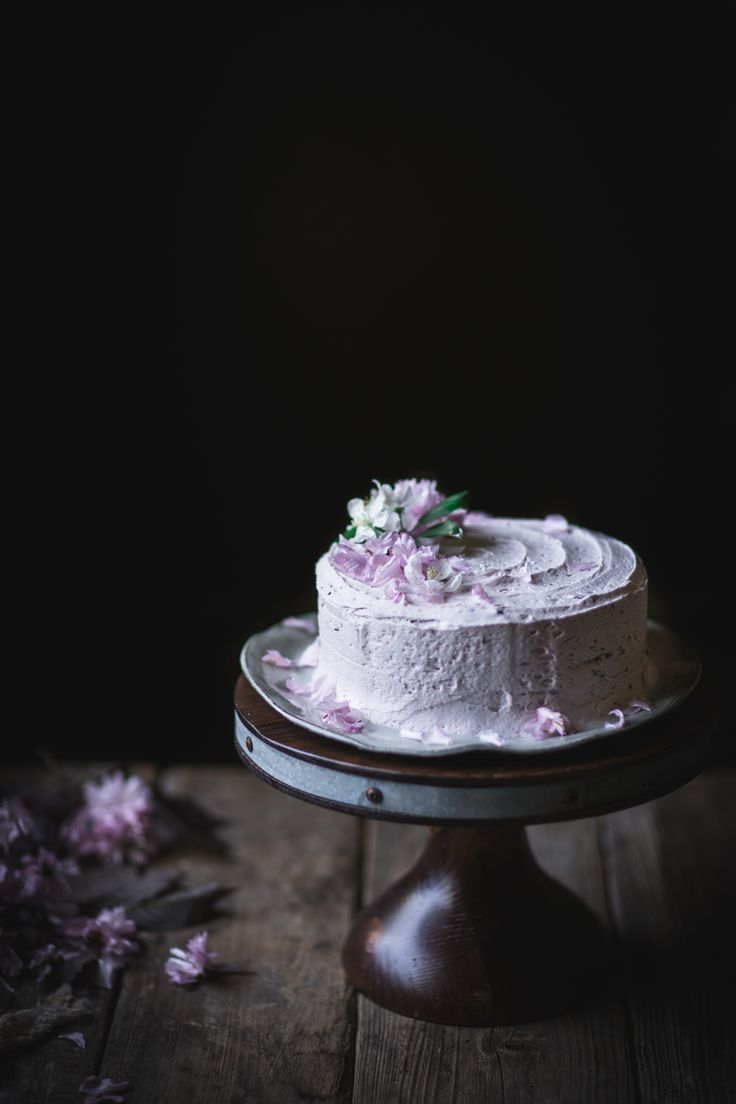 Lemon Olive Oil Cake with Hibiscus Cream Cheese Buttercream + A KitchenAid Stand Mixer Giveaway http://adventuresincooking.com/2017/05/lemon-olive-oil-cake-with-hibiscus-cream-cheese-buttercream-a-kitchenaid-stand-mixer-giveaway.html