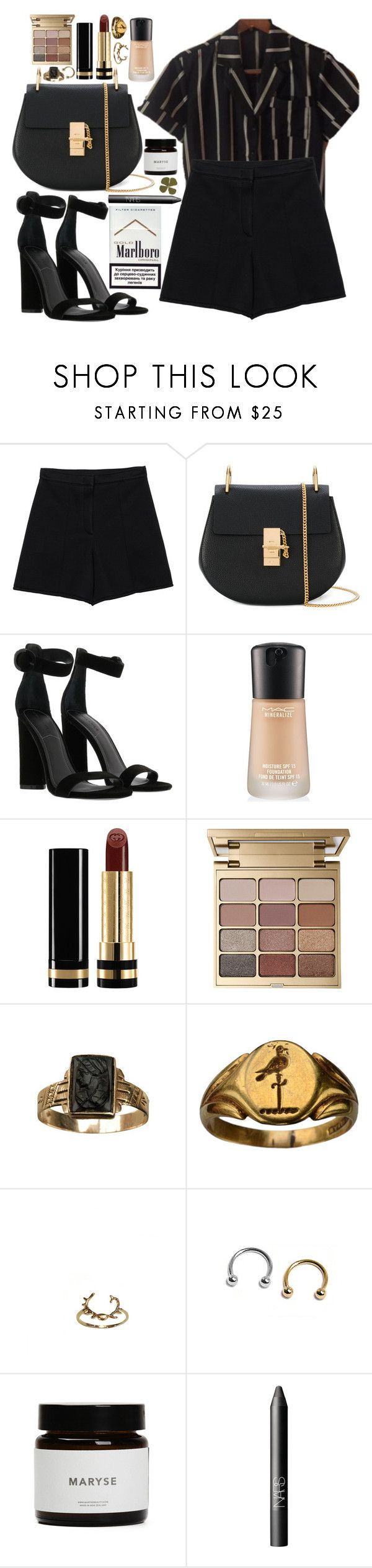 """lucky girl"" by velvet-ears ❤ liked on Polyvore featuring Sonia by Sonia Rykiel, Chloé, Kendall + Kylie, MAC Cosmetics, Gucci, Stila, Cameo and NARS Cosmetics"