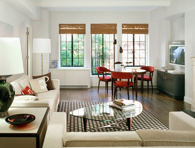 delicate furniture for small living room ideas with glass surface of coffee table