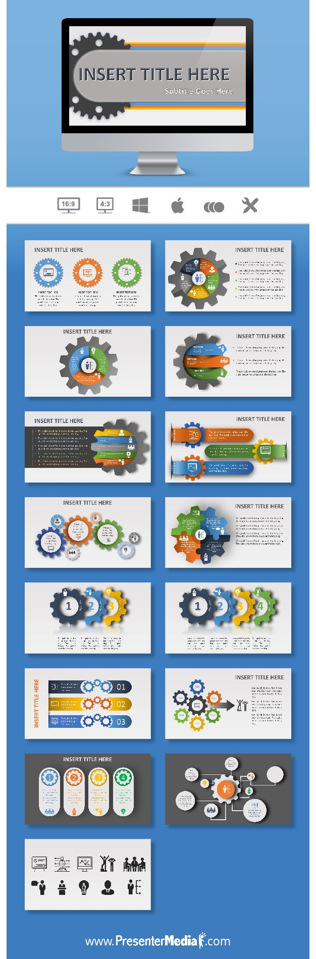 Get the gears spinning with this new presntation toolkit. Use it for your class or for a business presntation. #infographics #presentations #powerpoint http://bit.ly/2erYVQc