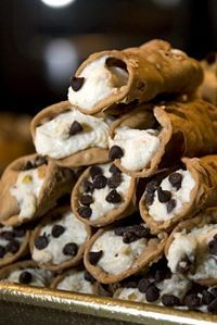 How to Make Cannolis- I'm not sure if I'd fry the dough, but the filling recipe sounds good.