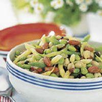 Six-Bean Salad with Tomato Vinaigrette