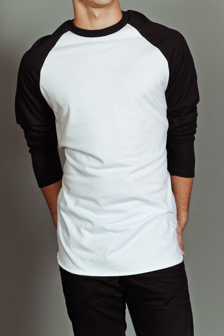 US Blanks Men's Baseball Raglan Tee White/Black