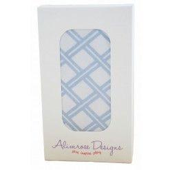 Boxed Muslin Wrap Single Blue Cream Plaid - Quilts, Blankets & Wraps