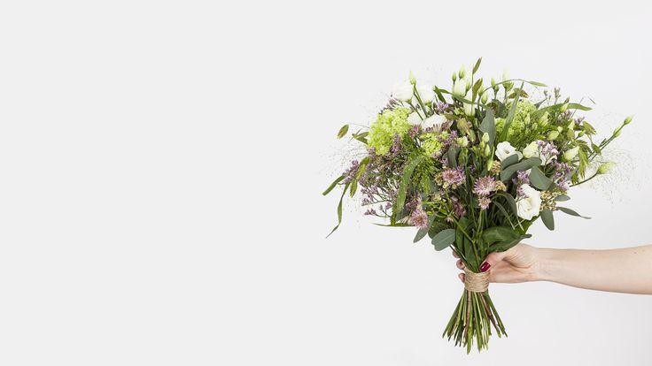 """POSY by Interflora. """"Markstyle"""" posy. Vi leverer lige til døren over alt i Danmark. Også på abonnement. Se mere på www.posy.dk"""