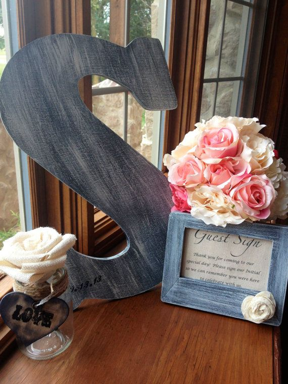 Vintage Letter Guest Book Alternative by by BurlapandLinenCo, $72.00