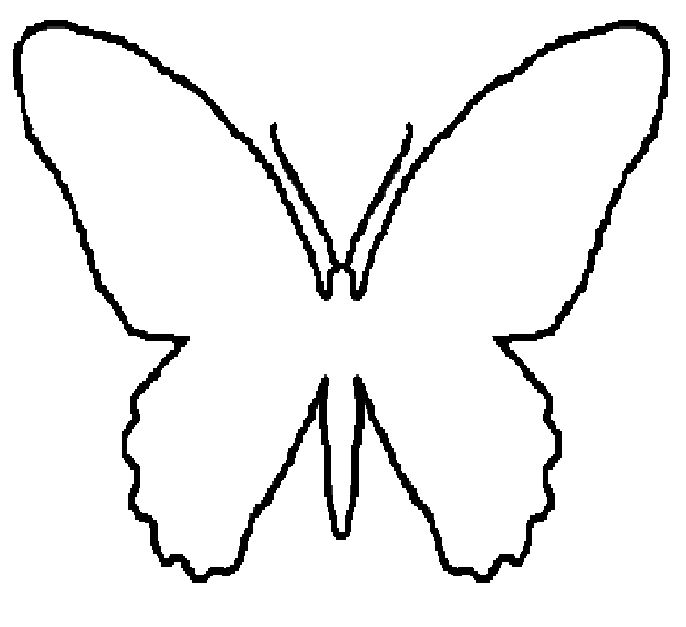 butterfly patterns to trace   Butterfly cut out template ...