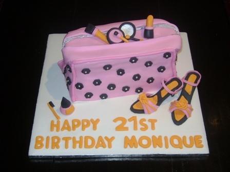Handbag and Hi-Heels 21 st birthday cake