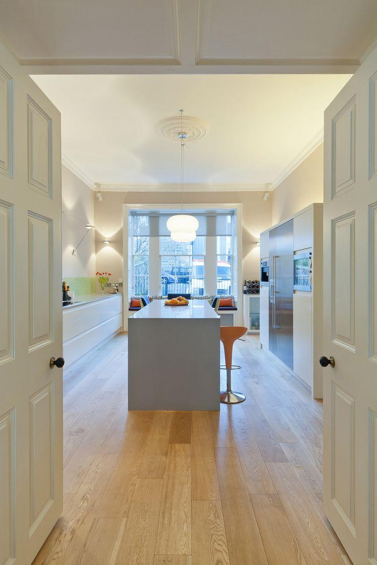 Contemporary kitchen in georgian house - Helen Lucas Architects Edinburgh Project Listed Town House Edinburgh Georgian Living Spaces