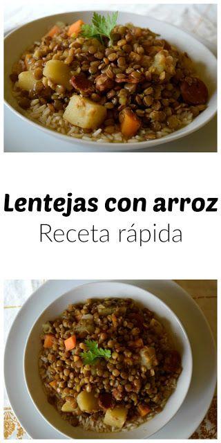 Lentejas rápidas con arroz