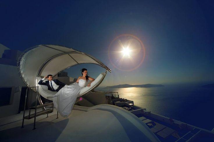 Ρομαντικές φωτογραφίες γάμου Σαντορίνη.