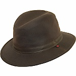 """First review in on this fleece-lined Woolrich 100% cotton oil cloth Safari hat with earflaps--and it's a rave. Kenneth L. says for """"rainy cool climates, this is a great cover."""" Item Number: W8416 at HartfordYorkcom"""