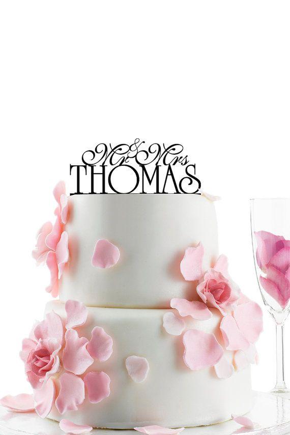 Custom Wedding Cake Topper  Personalized Monogram door WEDDINGHOUSE1