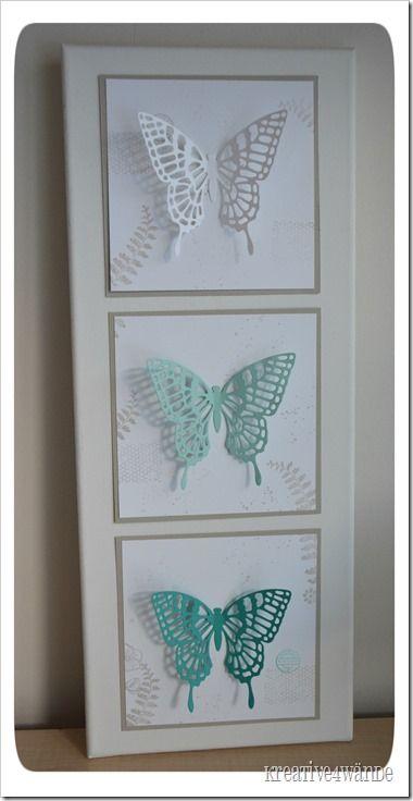 Dekorahmen Schmetterlinge Stampin`Up!