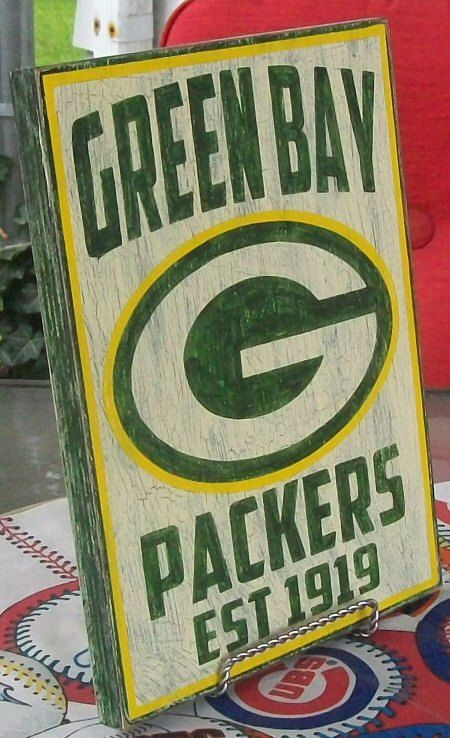 Green Bay Packers wall sign 9 1/4 x 12 1/2 by Route66VintagesSigns, $25.00