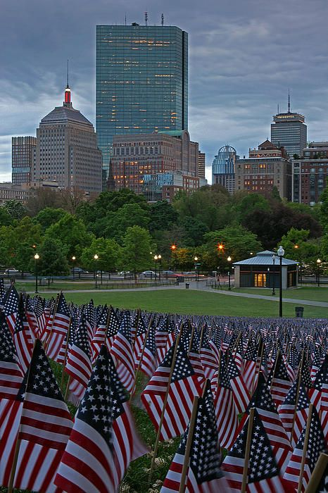 boston common flags memorial day
