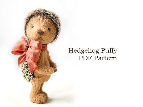 Teddy Bear PDF Pattern - Hedgehog bear sewing pattern - Jointed toy ...