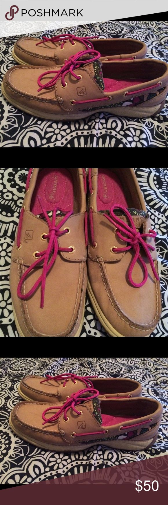 Sale! Women's Sperrys! Nice Ivy, pink and a little white on the side sperrys shoes. Still in pretty good condition. Shoes