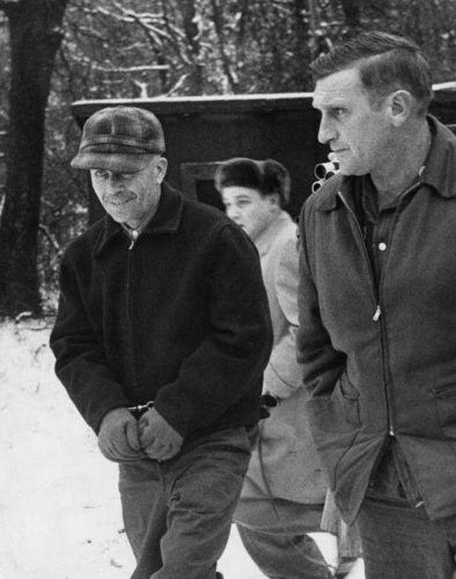 Ed Gein Arrested By Sheriff Art Schley In Plainfield Wisconsin