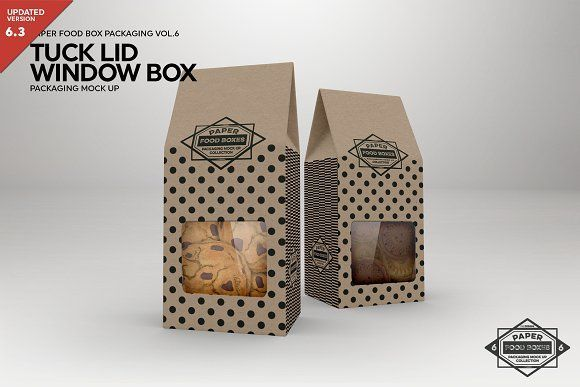 Download Tuck Lid Window Box Mock Up By Incdesign On Creative Market Product Mockups Ideas Of Product Mockups Produc Box Mockup Food Box Packaging Packaging Mockup