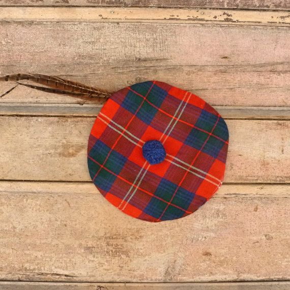 Plaid Scottish Beret  Vintage 70's Tam O Shanter