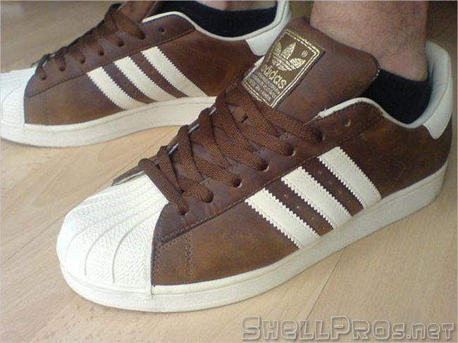 online store 6558c 0e6f6 Adidas Superstar II Brown Waxed   Cream –  666033