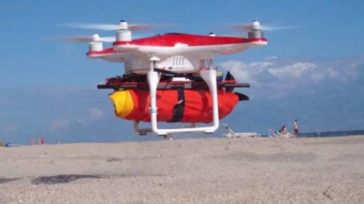 Um novo uso para os drones é acoplar uma boia para ser levada a uma pessoa que esteja afogando - ao tocar a superfície molhada, o equipamento libera uma carga de CO2 para encher a boia. Leia mais e veja o vídeo na Exame, por Adeline Daniele.