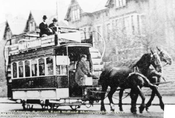 Horse Tram on Mansfield Road near Hucknall Road, Nottingham, 1897