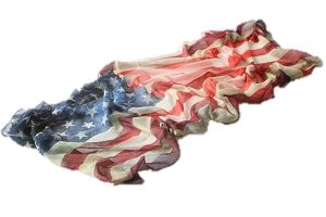 USA Patriotic flag scarf by GUGU International. Patriotic scarves for the discerning patriot.