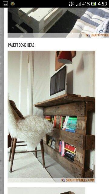 schreibtisch paletten pinterest. Black Bedroom Furniture Sets. Home Design Ideas