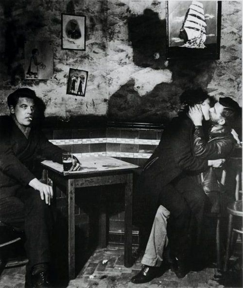 Bill Brandt. In the Public Bar at Charlie Brown's, Limehouse, 1942.