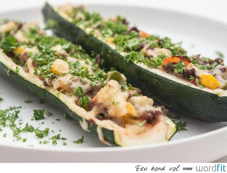 Recept: Opgevulde courgettes | WordFit